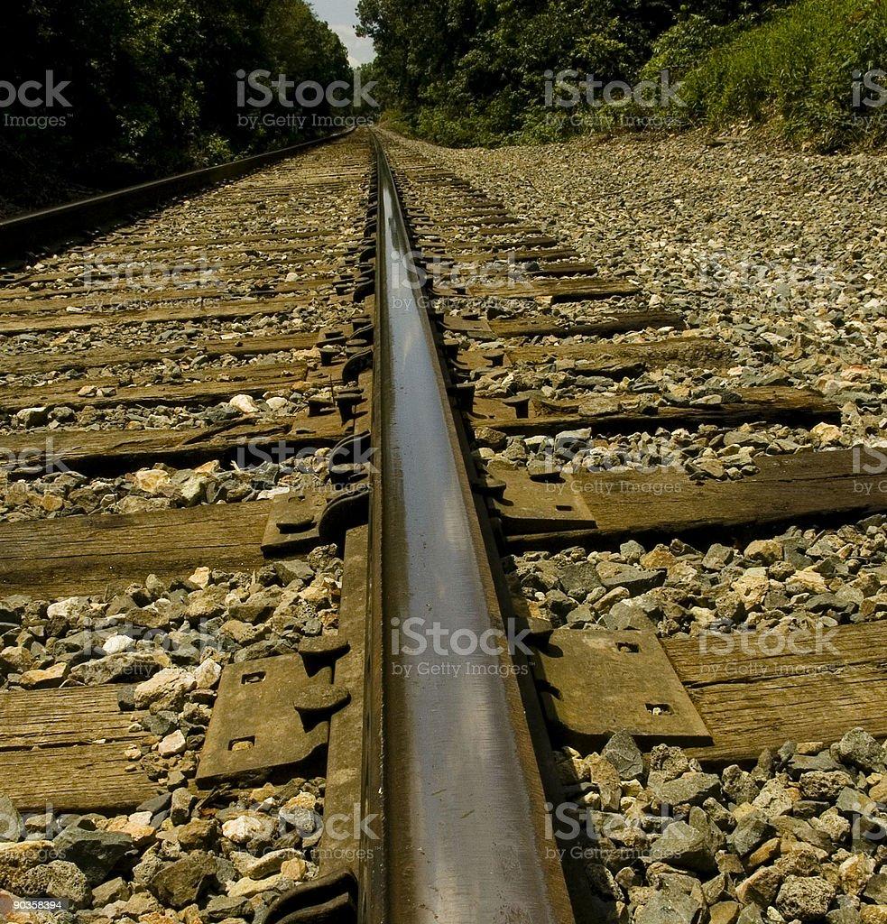 Railroad Tracks. royalty-free stock photo
