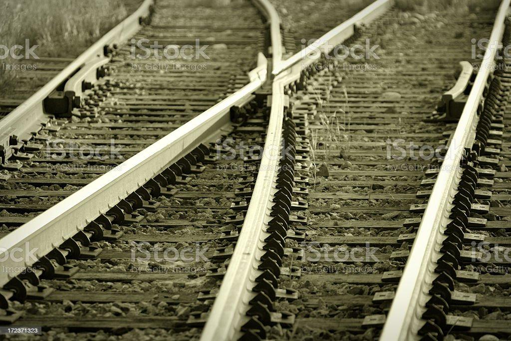 Railroad Tracks Switch stock photo