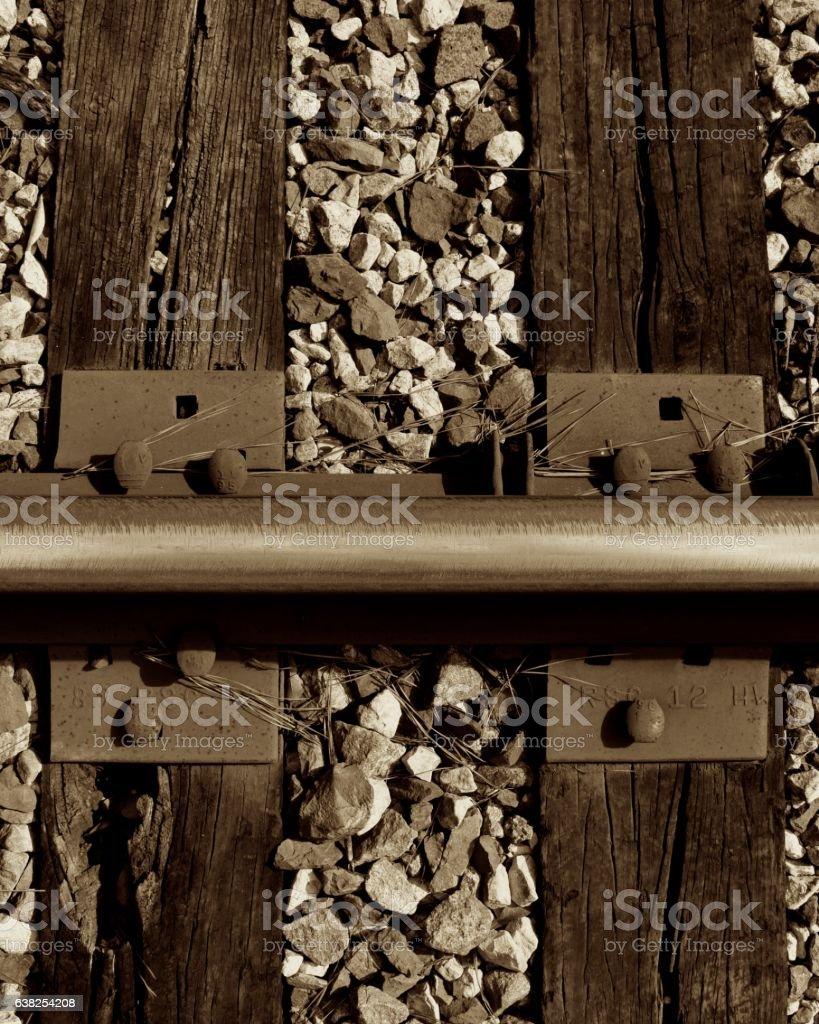 Railroad Tracks-Bullhead Rail Horizontal stock photo