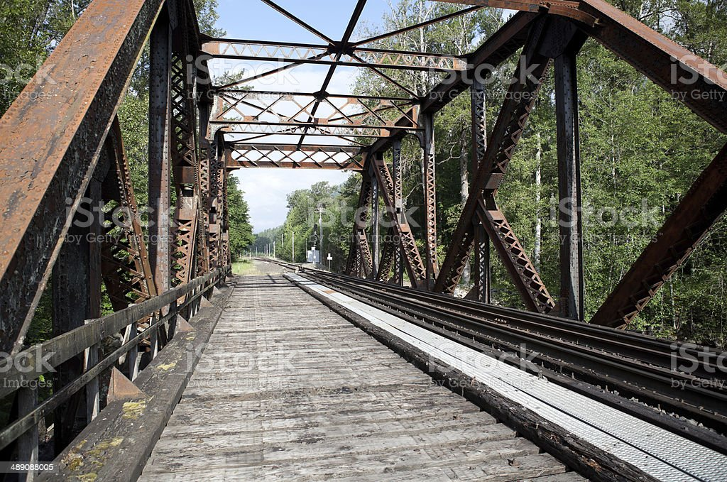Railroad Trestle stock photo