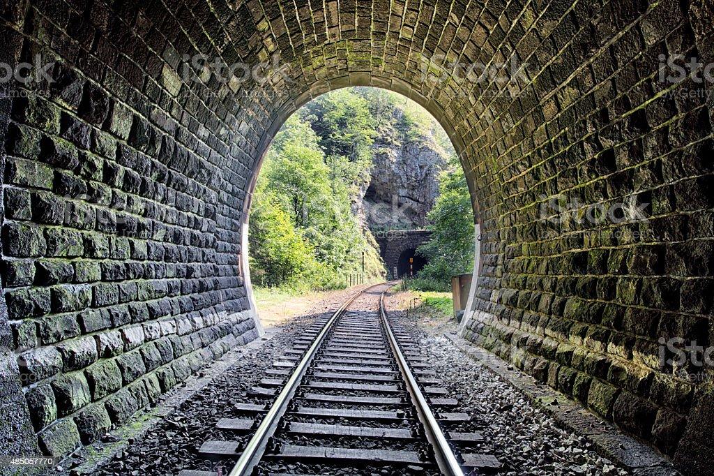 Railroad Tunnel - Harmanec, Slovakia stock photo