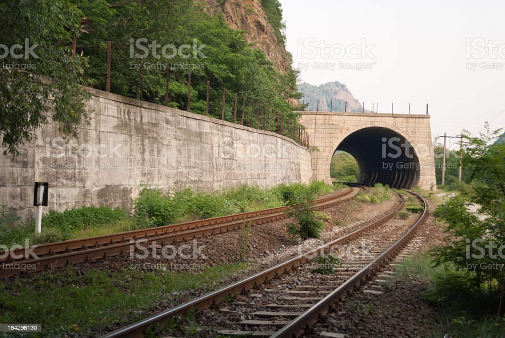 Railroad tunnel royalty-free stock photo