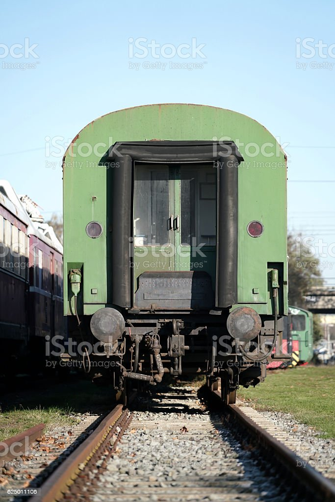 Railroad waggon stock photo