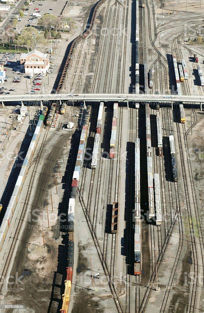 Railroad Yard stock photo