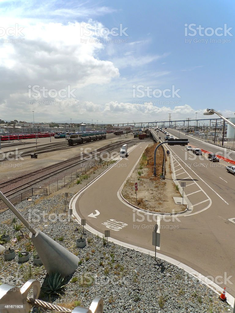 Railroads and Streets royalty-free stock photo