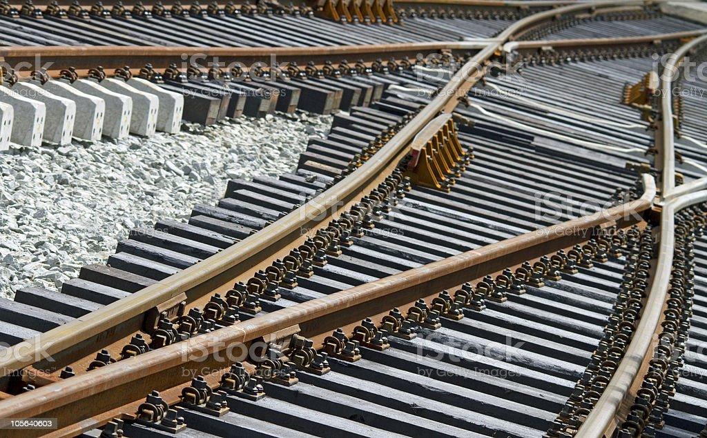 railroadtracks royalty-free stock photo