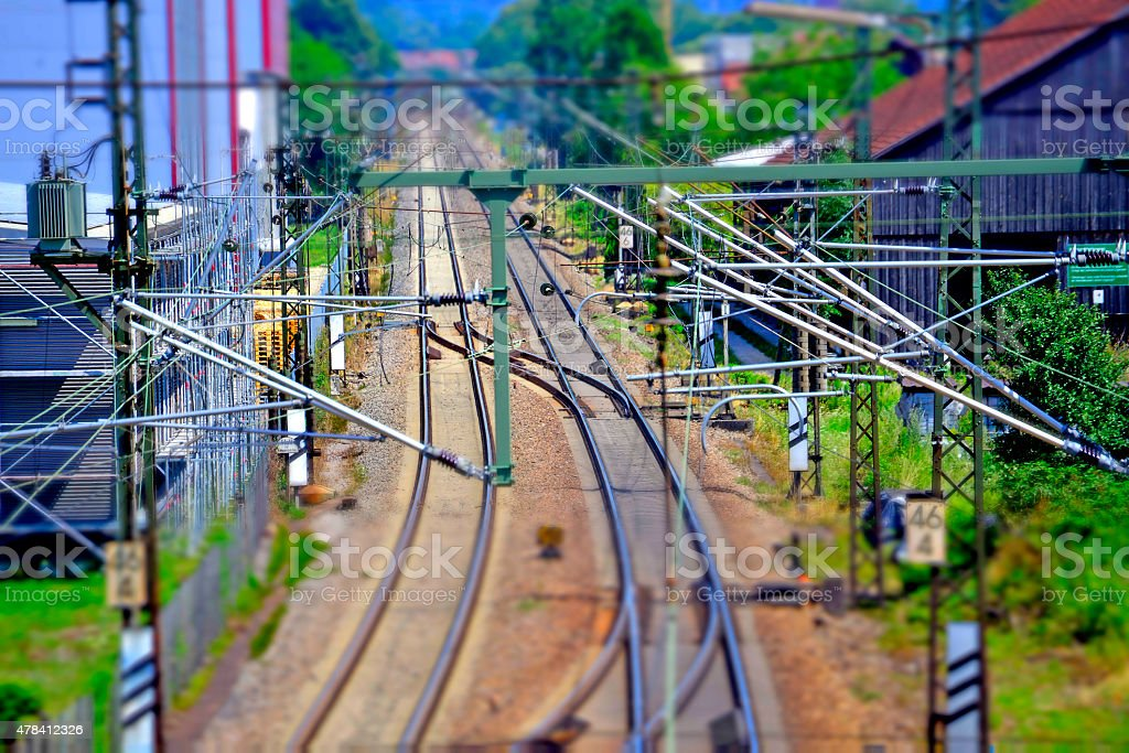 rails in Germany stock photo