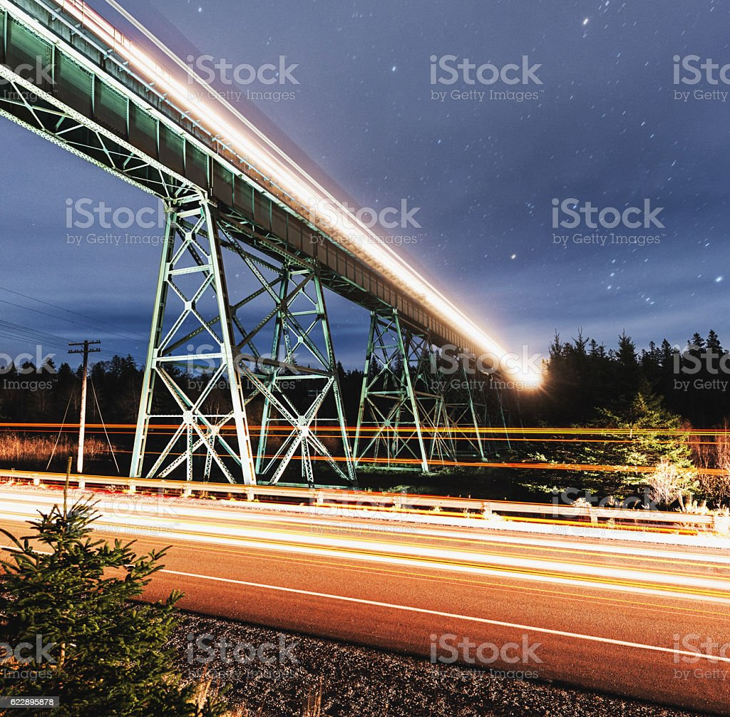 Rails in the Sky stock photo