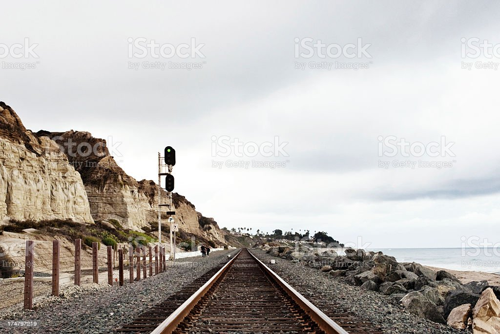 rails royalty-free stock photo