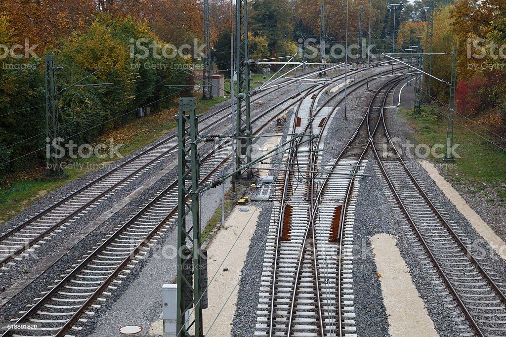 Rails stock photo