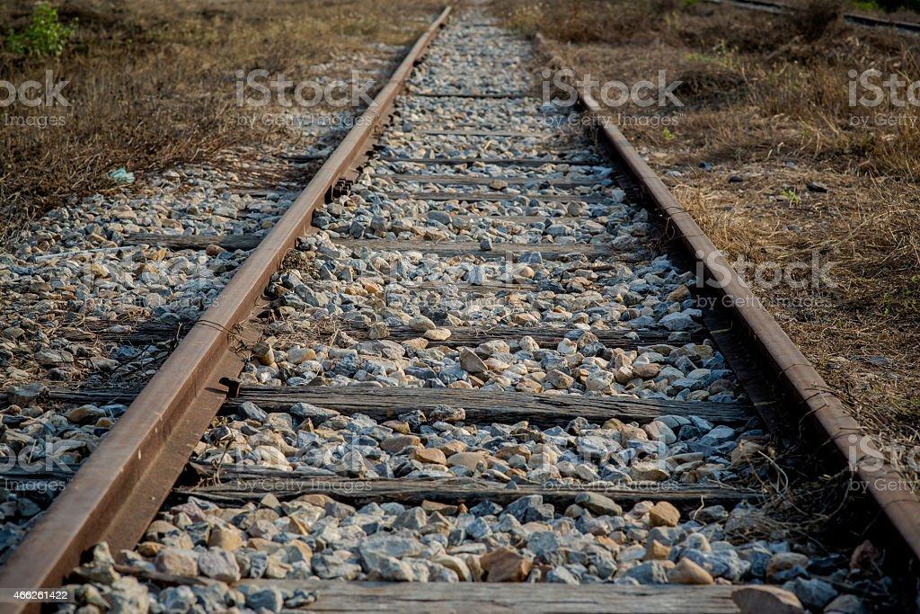 Rails way stock photo