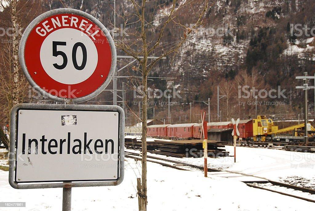 Railtrack at Interlaken, Switzerland royalty-free stock photo