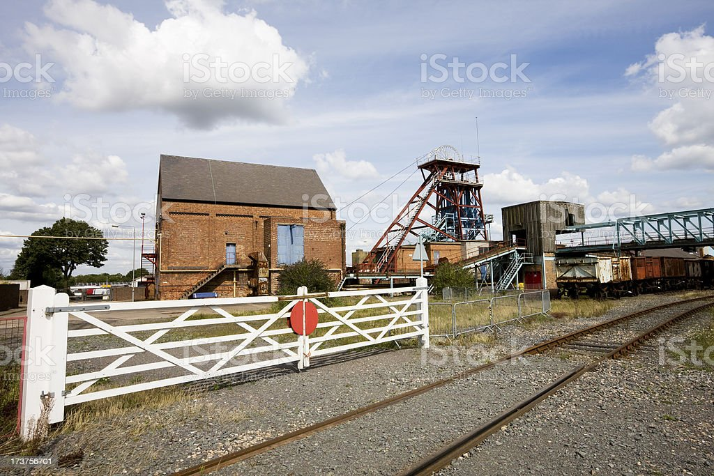 Railway and Coal Pit stock photo
