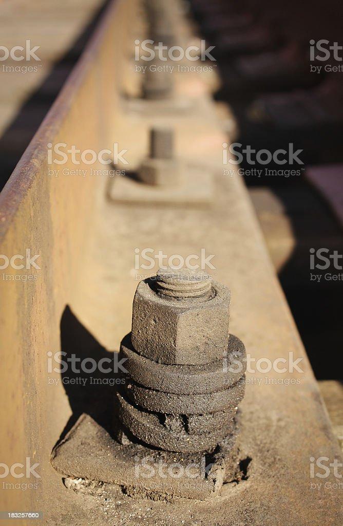 Railway bolt royalty-free stock photo
