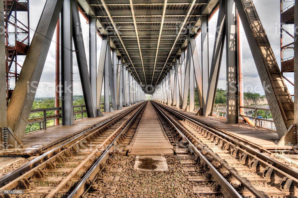Railway Bridge - HDR Image stock photo