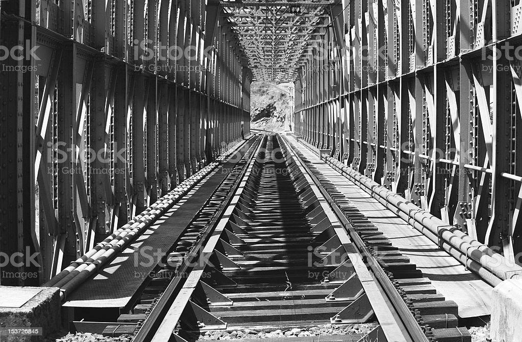 Railway bridge royalty-free stock photo