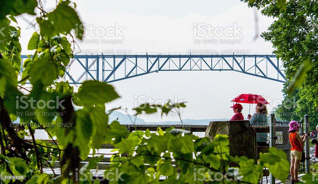 Railway Bridge, Poughkeepsie, NY stock photo