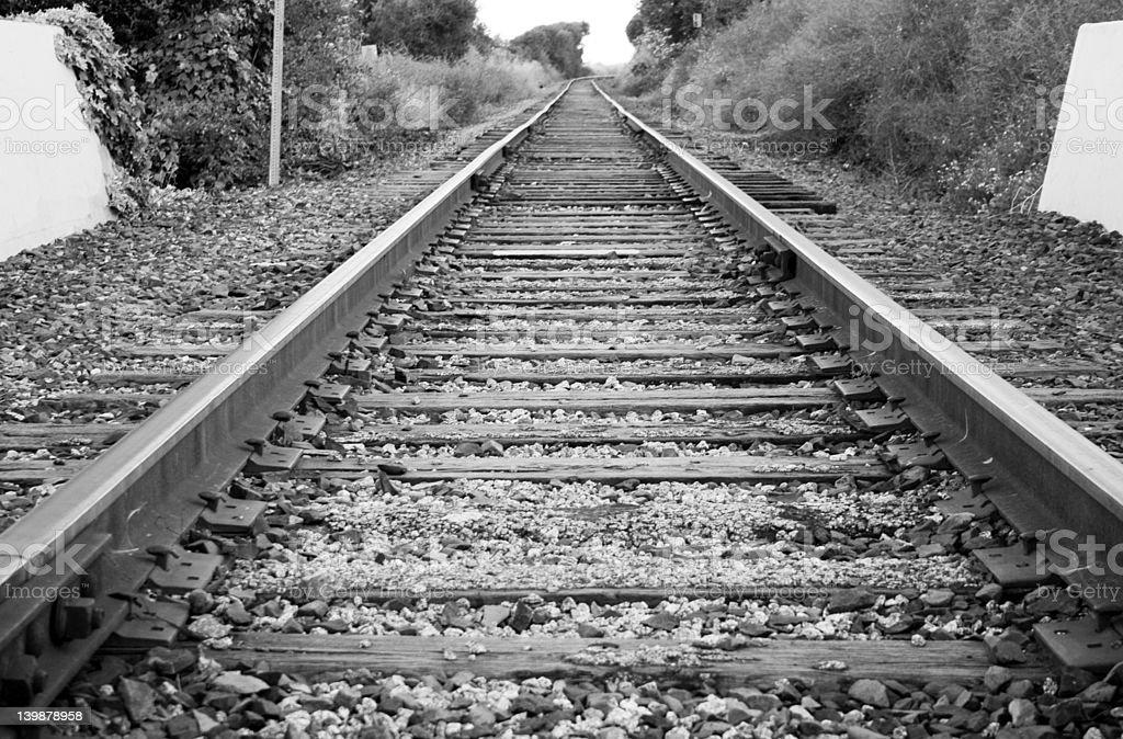 Railway B&W royalty-free stock photo