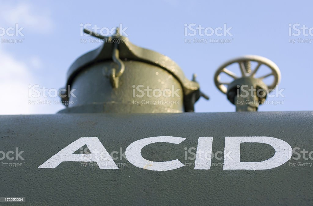Railway Car Acid Tank royalty-free stock photo