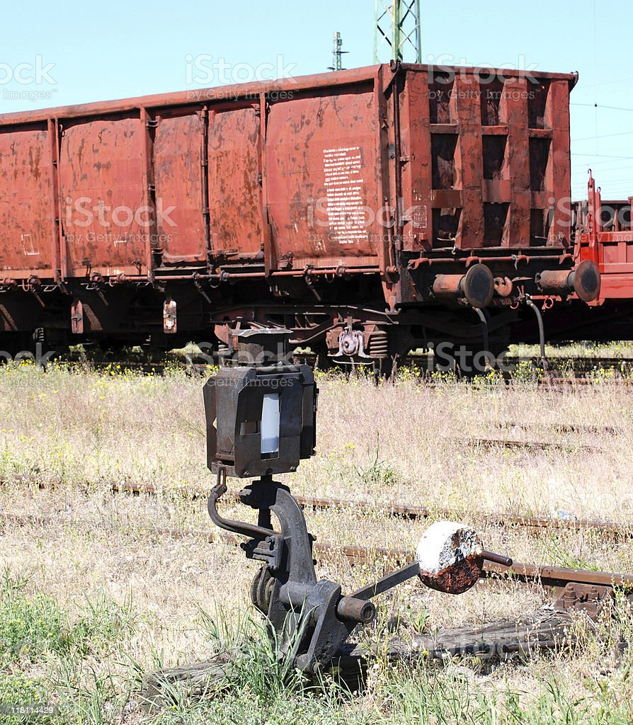 railway carriage for freight transportation stock photo