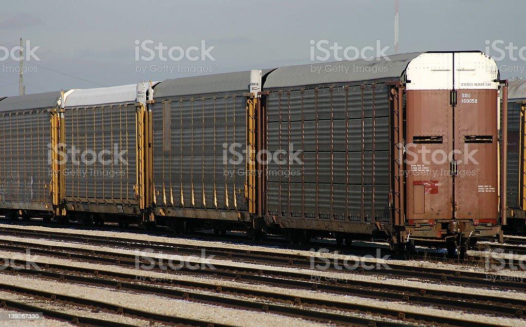 Railway Cars royalty-free stock photo