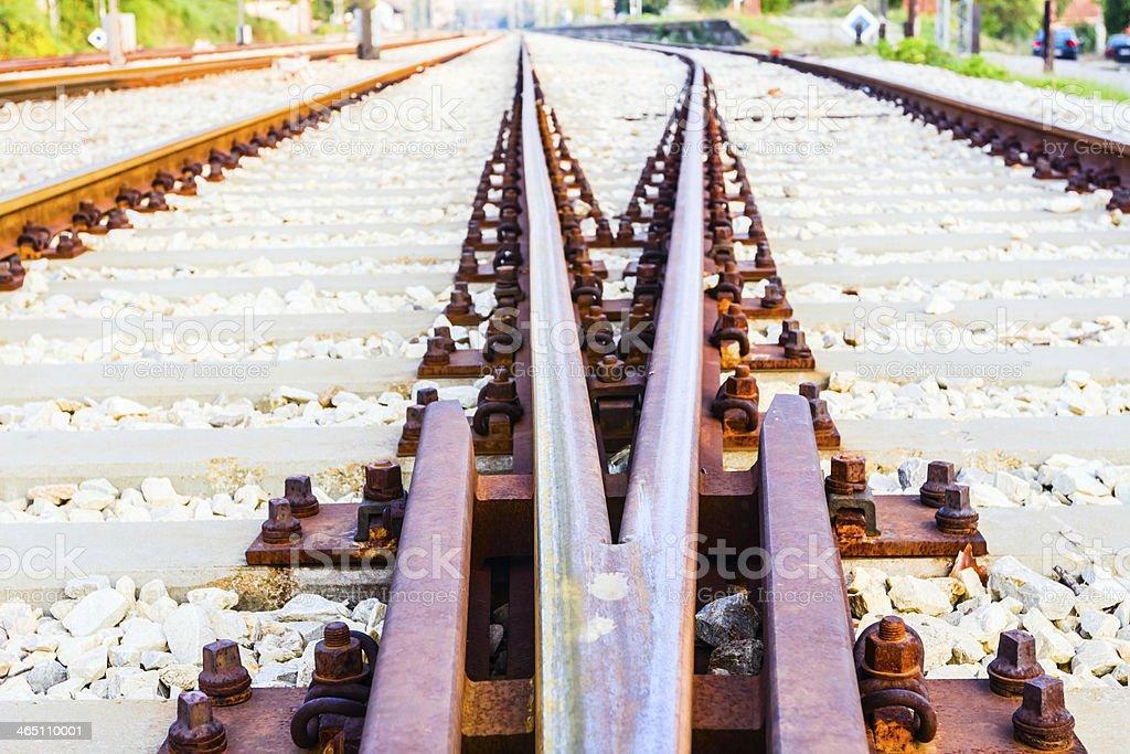 Railway close up. stock photo