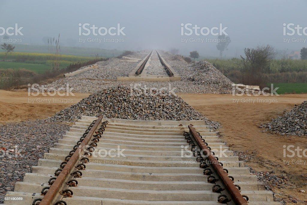 Railway Construction stock photo