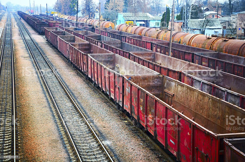 railway containers royalty-free stock photo
