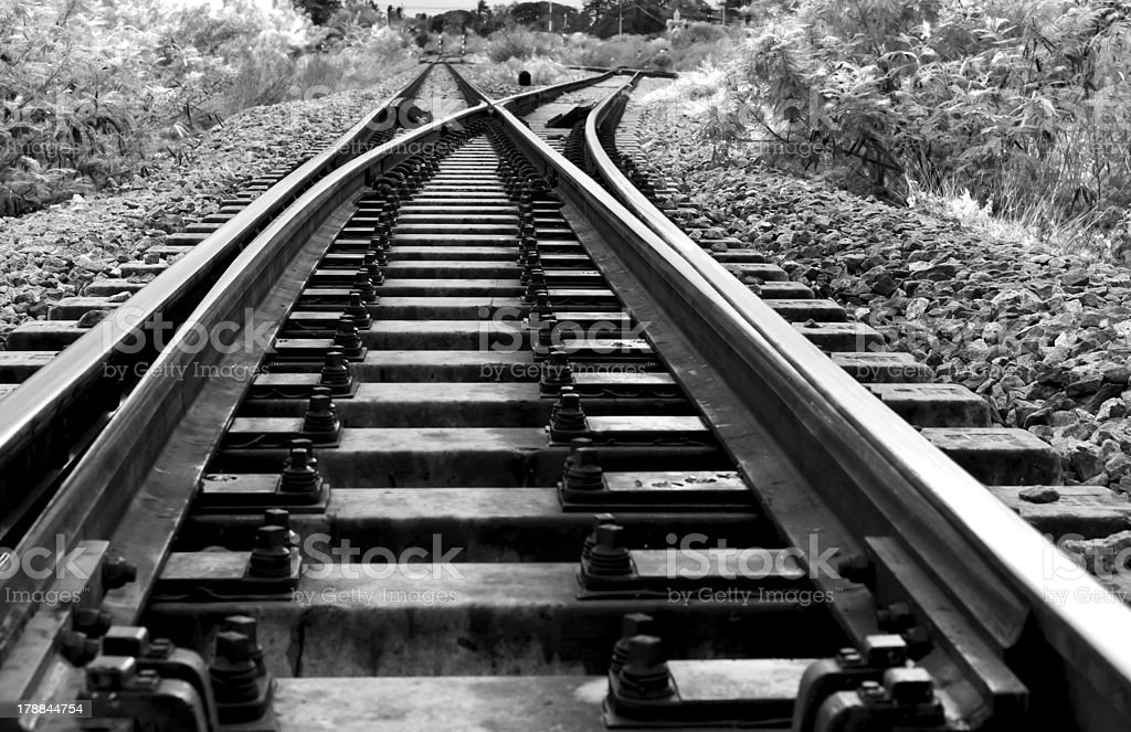 railway crossing in rural of Thailand. royalty-free stock photo
