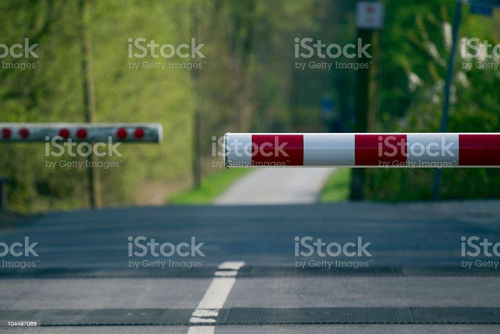 Railway crossing stock photo