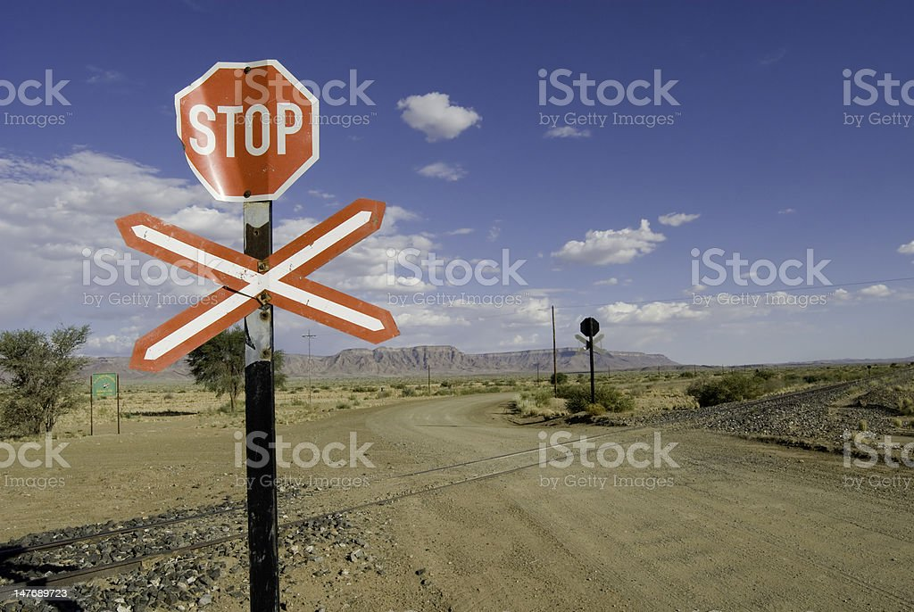 Railway Crossing stock photo