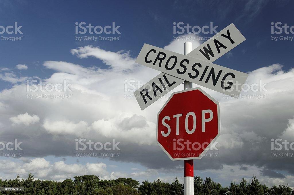 Railway Crossing royalty-free stock photo