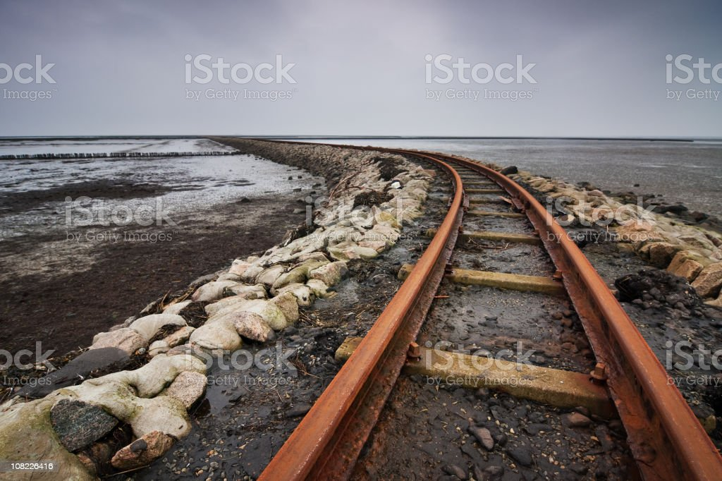 Railway Curve royalty-free stock photo