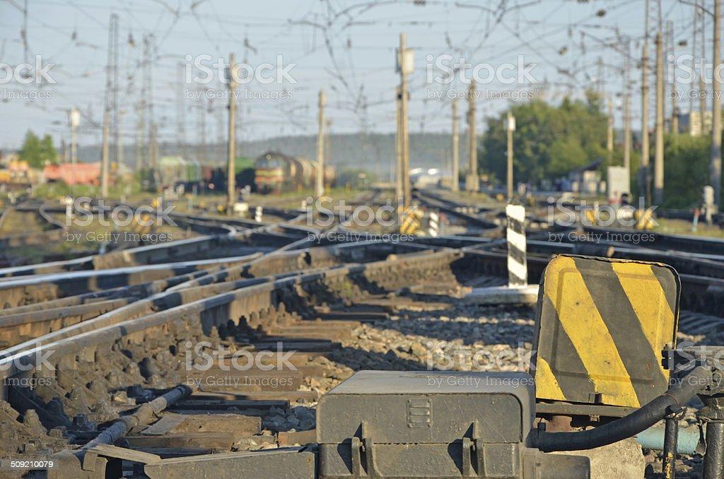 railway defocused daylight royalty-free stock photo
