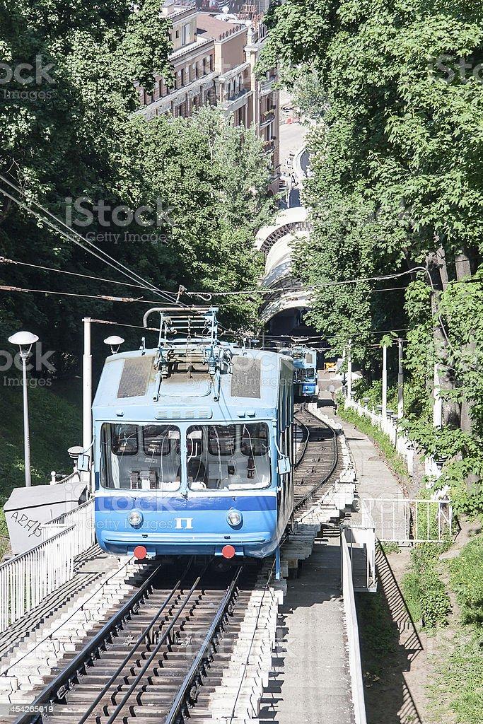 Railway funicular in Kyiv, Ukraine stock photo