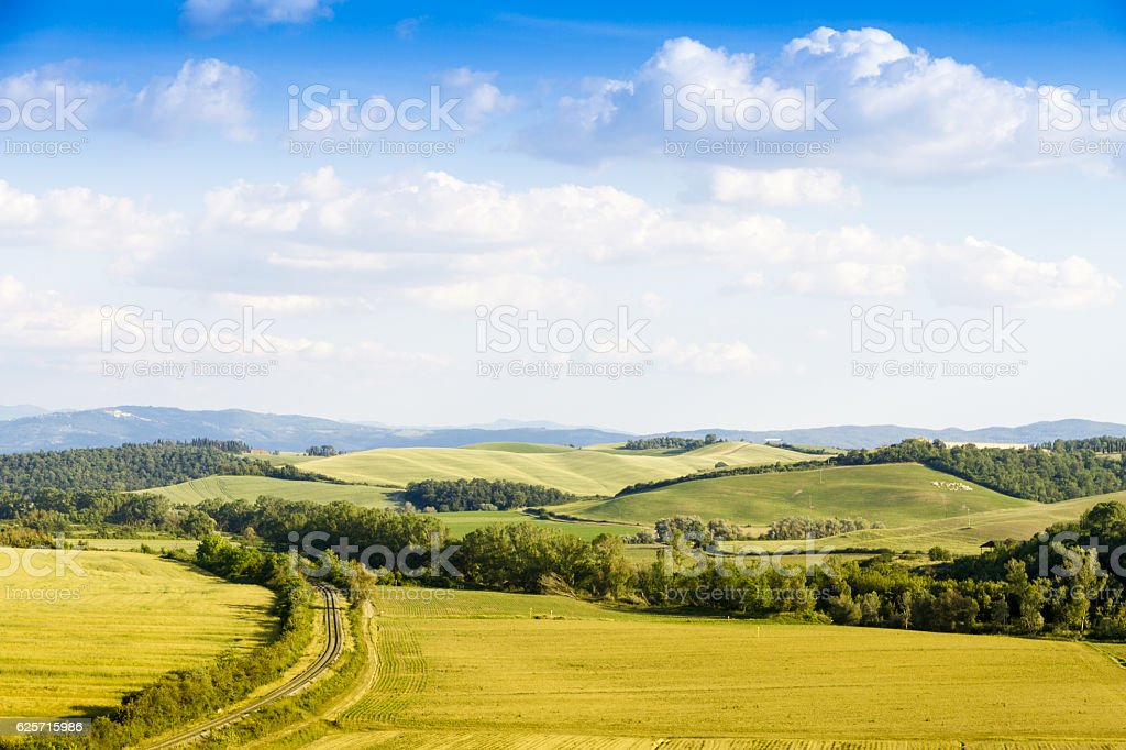 Railway in Crete Senesy, Tuscany stock photo