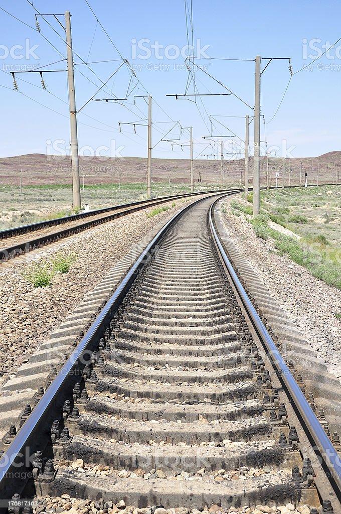 Railway in perspective stock photo