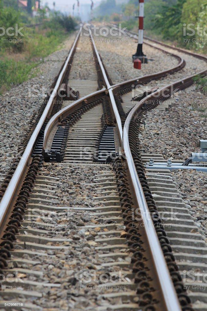 Railway in Thailand stock photo