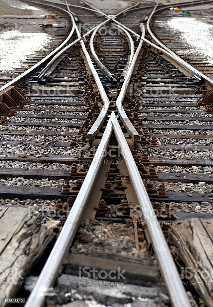 railway junction royalty-free stock photo