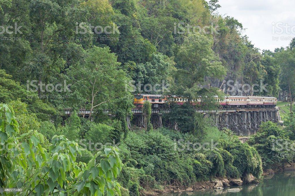 Railway Kanchanaburi stock photo
