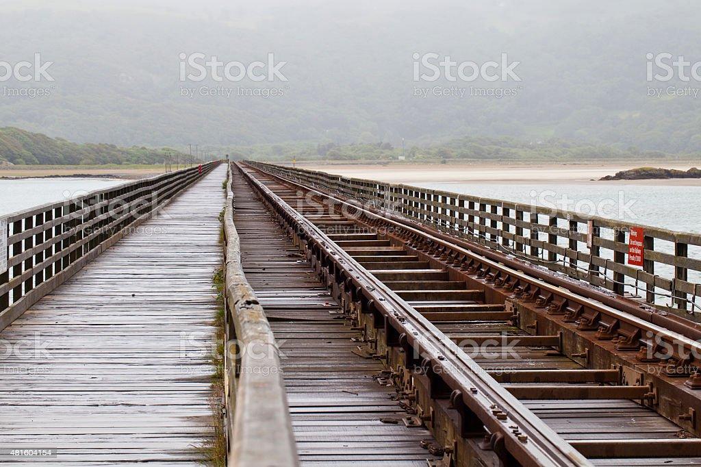 Railway line stock photo