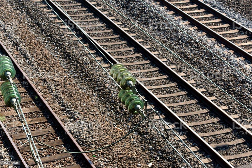 Eine Eisenbahnstrecke stock photo