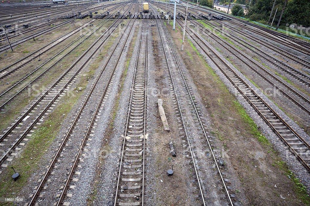 railway lines royalty-free stock photo