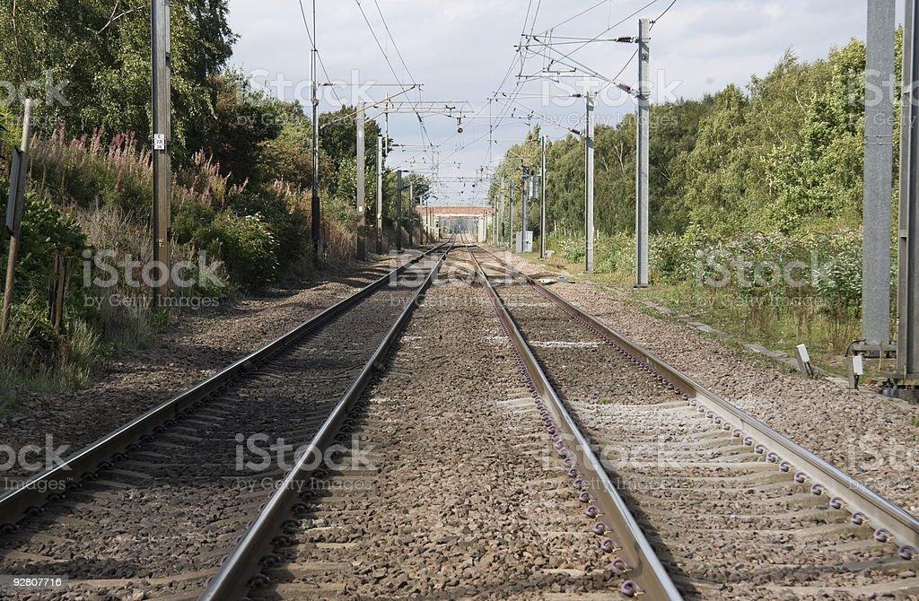 Railway lines stock photo