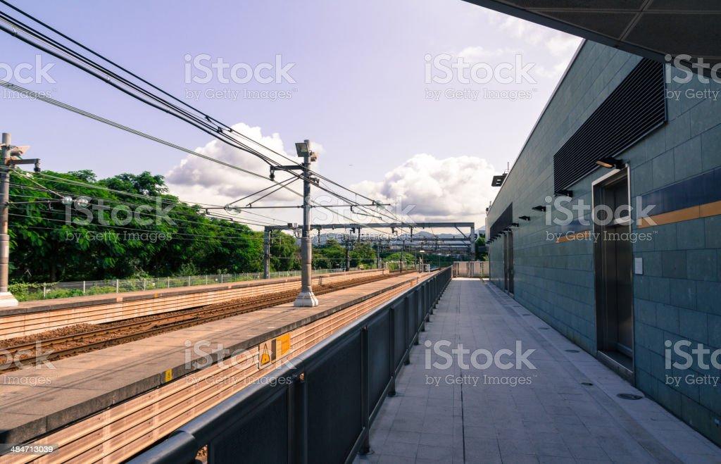 Railway platform royalty-free stock photo