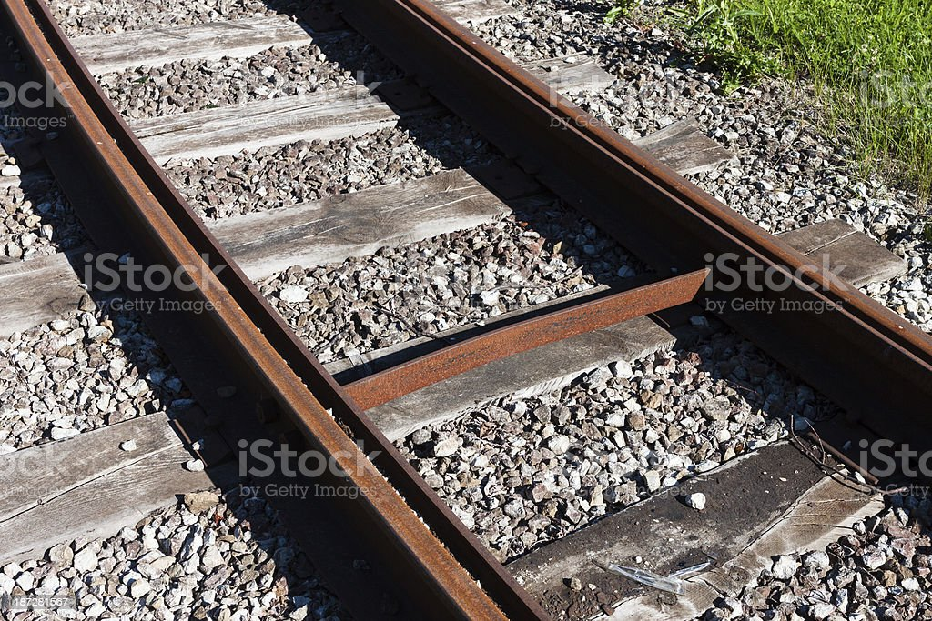 Railway rail road track royalty-free stock photo