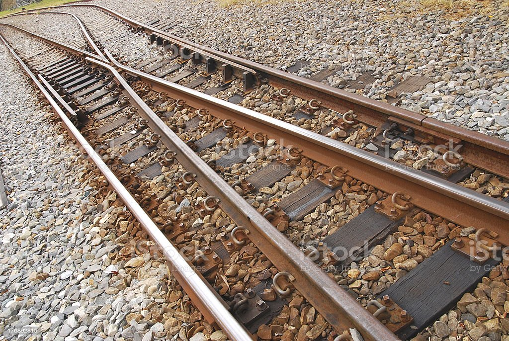 Railway railroad tracks . royalty-free stock photo