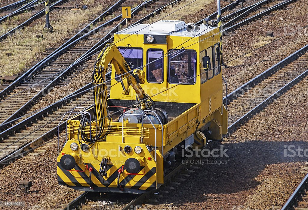 railway reparing vehicle royalty-free stock photo