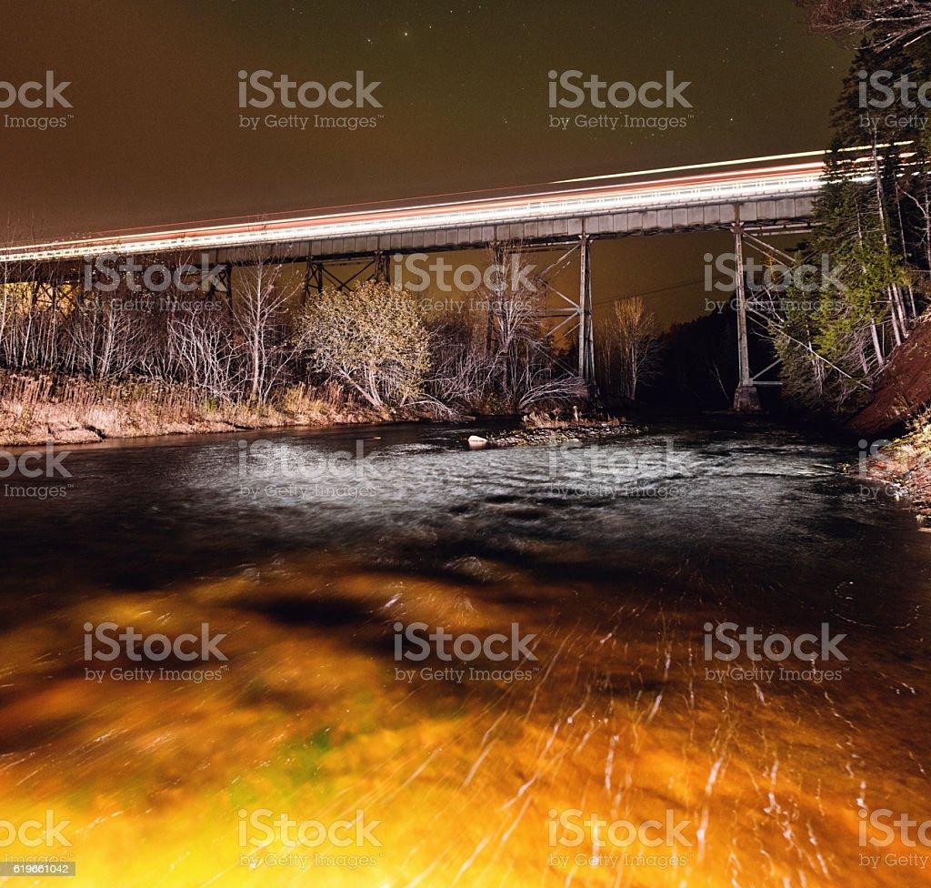 Railway River Crossing stock photo