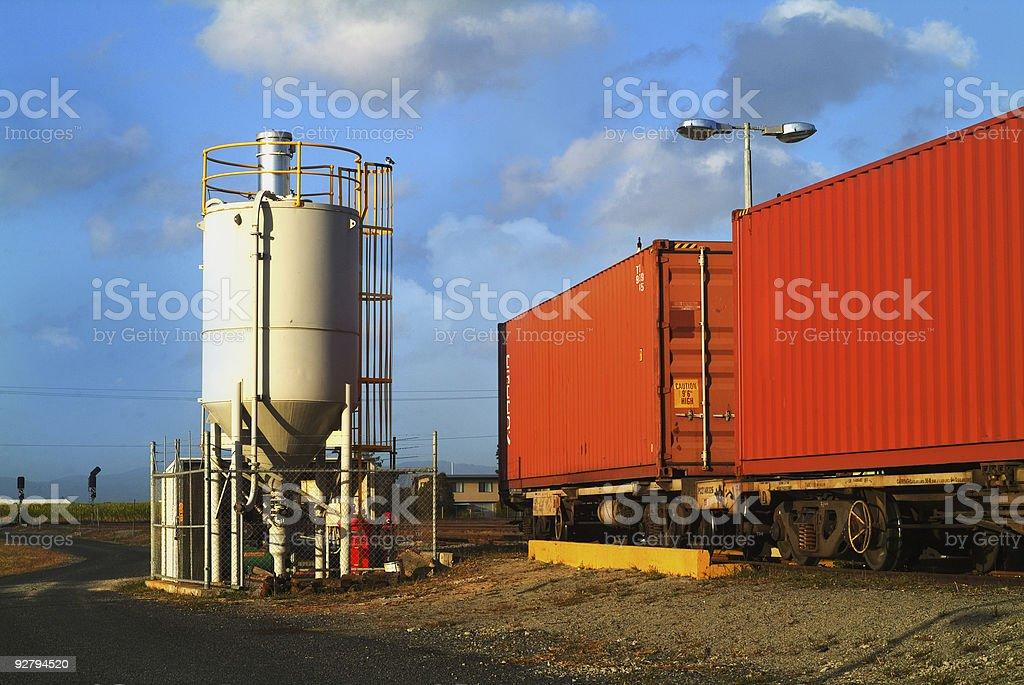 Railway siding Australian bush stock photo